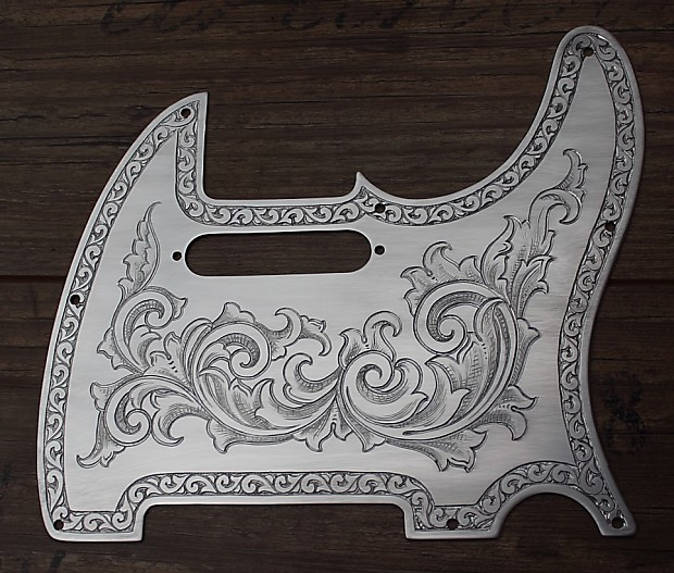Handmade And Hand Engraved Metal Pickguard Fits Fender Reverb