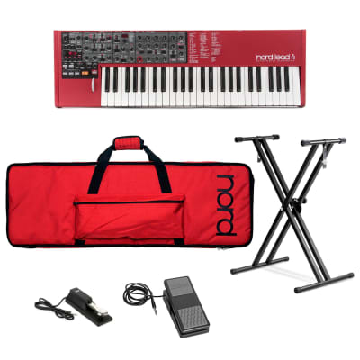 Nord Lead 4 49-Key Performance Synthesizer Bundle with Soft Case, Adjustable Stand, Expression Pedal