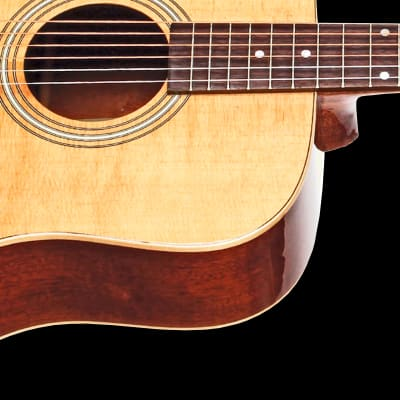 Teton STS100NT Dreadnought Guitar ONLY, Solid Spruce Top, Mahogany Veneer Back and Sides