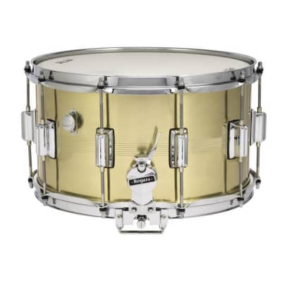 """Rogers #38 Dyna-Sonic 8x14"""" Brass Snare Drum with Beavertail Lugs Reissue"""