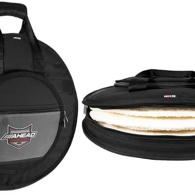 Ahead Bags - AA6024 - Deluxe Heavy Duty Cymbal Case W/Handles And Shoulder Strap
