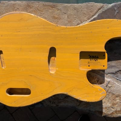 Real Life Relics 51 P Bass  Body Aged Butterscotch Blond Swamp Ash Nitro Lacquer Finish Made in USA