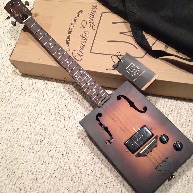 James Neligan CASK Hogshead 4 string Acoustic Electric p-90 Cigar Box Guitar