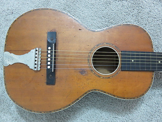 Vintage 1900s Regal Washburn Lyon Healy Parlor Acoustic Reverb