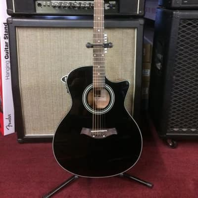 Tagima California-T Gloss Black Cutaway Acoustic-Electric Guitar #0547 [ProfRev] for sale