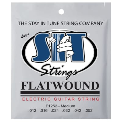 SIT Strings F1252 Medium Flatwound Electric Strings .012-.052