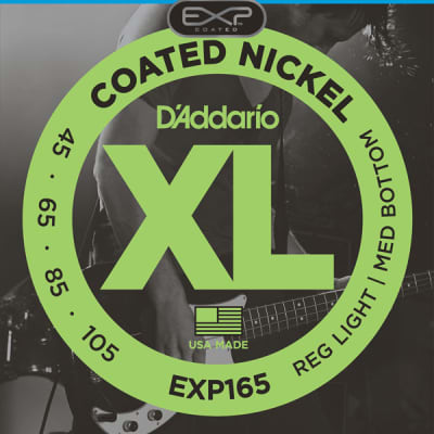 D'Addario EXP Set Coated Nickel Bass Strings 45-105 Regular Light / Medium Bottom Long Scale