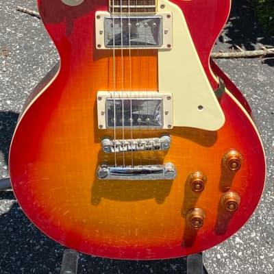2007 Epiphone Les Paul Standard Flame Top Cherry Sunburst