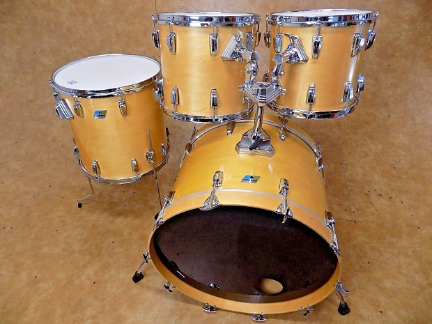 vintage 1980 ludwig 4pc thermo gloss drum set kit shell pack reverb. Black Bedroom Furniture Sets. Home Design Ideas