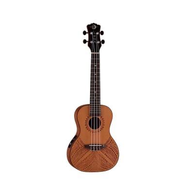 Luna Guitars Concert Ukulele Tapa Cedar Tapa Cedar Ukulele