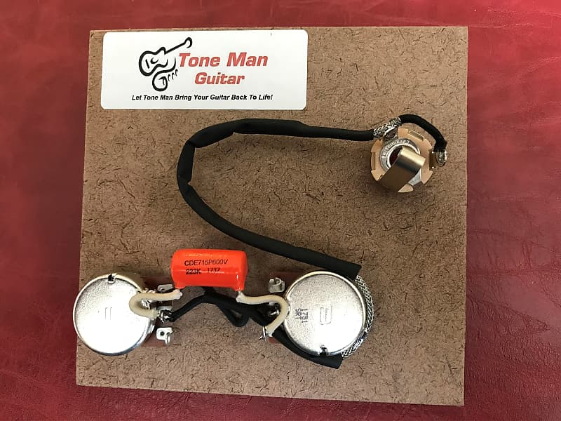 wiring upgrade kit fits gibson epiphone les paul jr orange | reverb  reverb