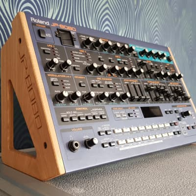 Roland JP8080 Solid Oak Engraved Stand from Synths And Wood