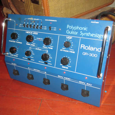 Vintage Circa 1981 Roland GR-300 Guitar Synthesizer Blue