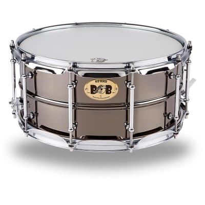 """Pork Pie PP6514BB Big Black Brass 6.5x14"""" Snare Drum"""