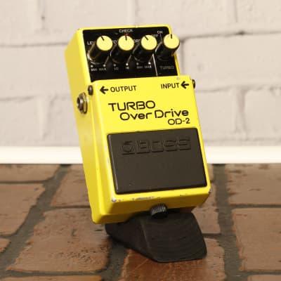Boss OD-2 Turbo OverDrive (Black Label) 1986 Japan *PSA Power Mod* #730900