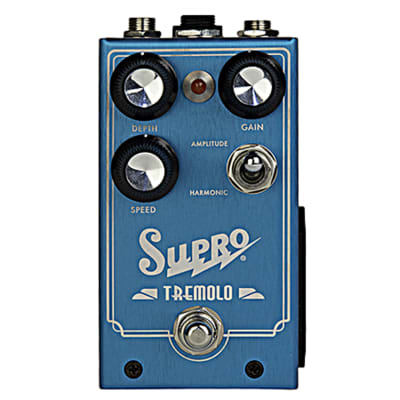 Supro 1310 Tremolo - Amplitude and Harmonic Tremolo & Drive Guitar Effects Pedal for sale