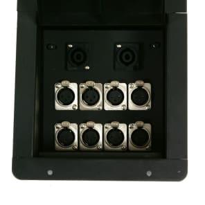 Elite Core Audio FB8-SP Recessed Floor Box with 8 XLR Female, 2 Speakon Connectors