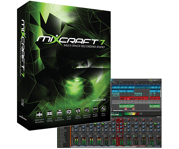 Acoustica Mixcraft 7 Boxed Version Recording DAW New