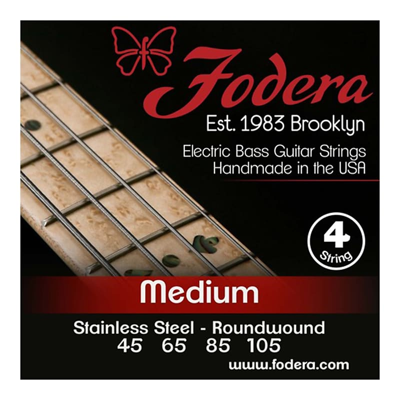 fodera 4 string 45 105 bass strings stainless steel reverb. Black Bedroom Furniture Sets. Home Design Ideas