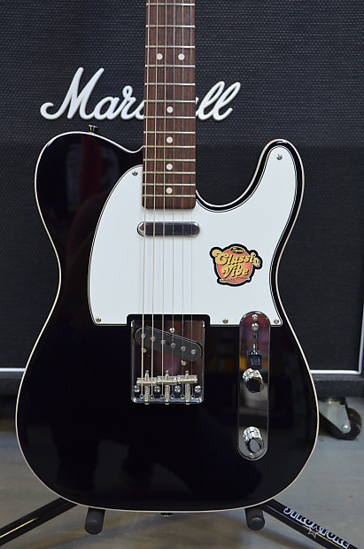 squier by fender classic vibe custom telecaster in black reverb. Black Bedroom Furniture Sets. Home Design Ideas