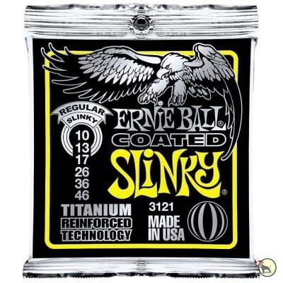 Ernie Ball 3121 Coated Electric Titanium RPS Regular Slinky Electric Guitar Strings (10-46)