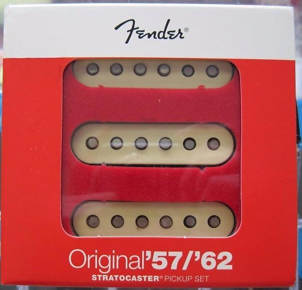 Fender® Original '57/'62 Strat Pickups~USA~Aged White | Reverb on