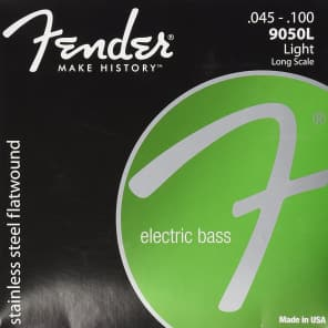 Fender 9050L Stainless Steel Flatwound Electric Bass Strings - LIGHT, 45-100