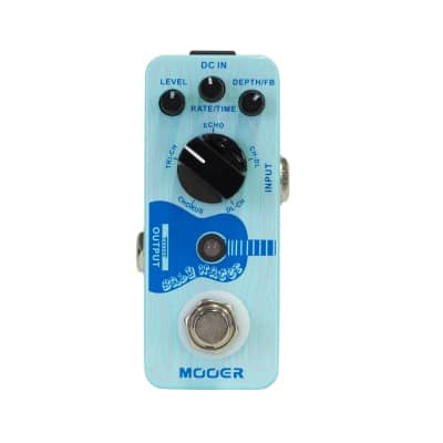 Mooer Baby Water Acoustic Chorus and Delay Micro Guitar Effects Pedal for sale
