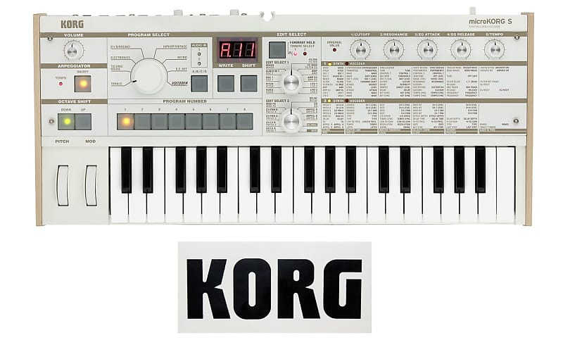 korg microkorg s synthesizer vocoder three wave music reverb. Black Bedroom Furniture Sets. Home Design Ideas