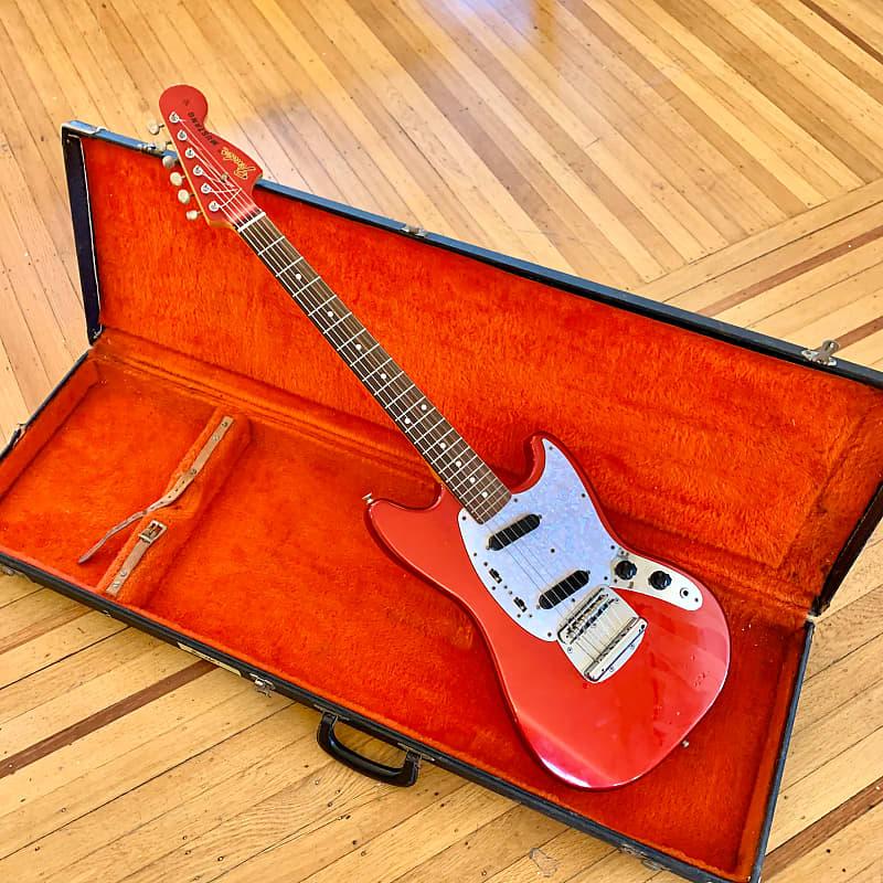 Fender Mustang CAR DuPont candy apple red original vintage mij japan | The Bonfires Vintage | Reverb