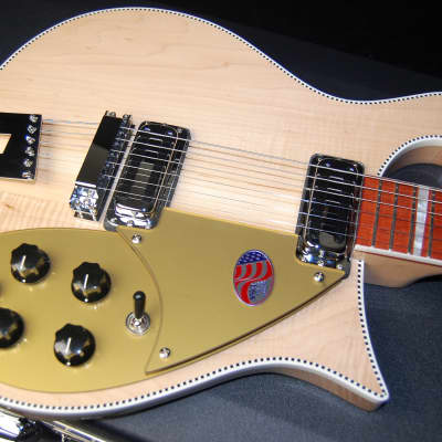 MINT! Rickenbacker 660 Electric Guitar OHSC 100% Unplayed Hardshell Case Maple Glo for sale