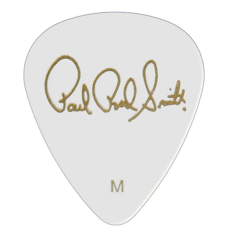 Paul Reed Smith PRS Solid White Celluloid Guitar Picks (12 Pack) – Medium