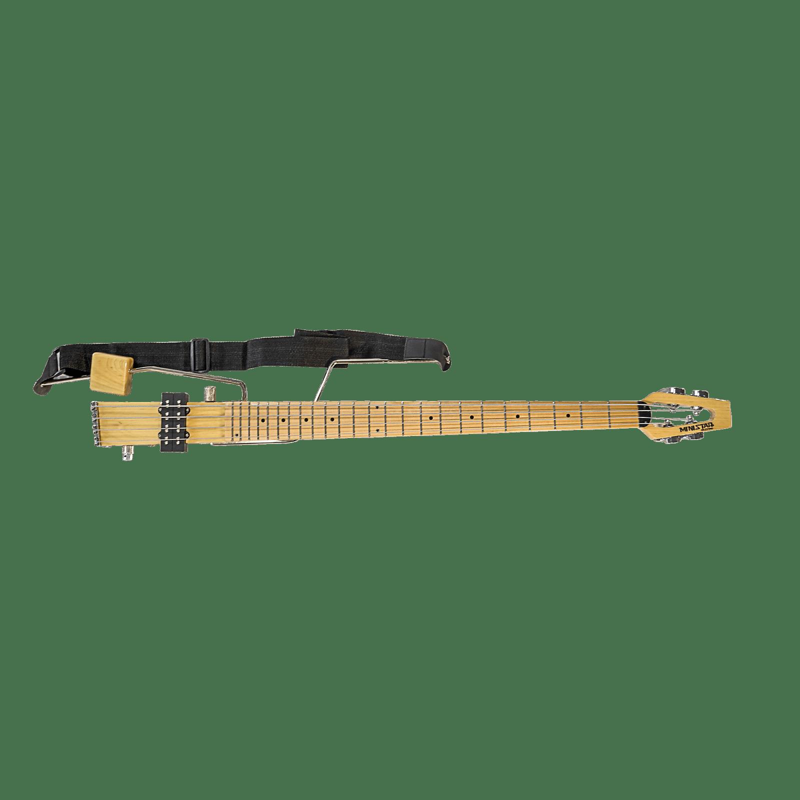 Original South Korean Ministar Basstar 4 String Bass Travel Guitar Built in Headset Amp