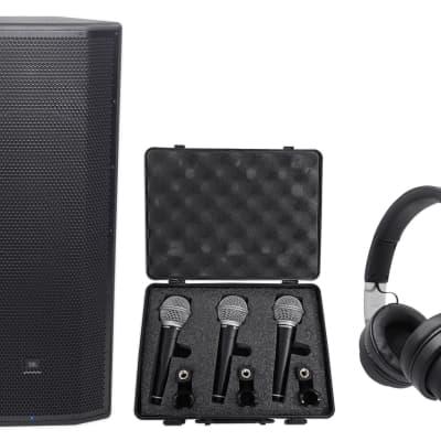 "16a4799cbae JBL Pro PRX825W Dual 15"" 1500w Powered Speaker+Audio Technica Headphones+3)"