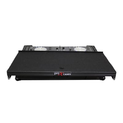 ProX XS-MIXDECK WLTBL Fits Numark Mixdeck/Quad ATA 300 BLACK ON BLACK Flight Case w Wheels and Lapto