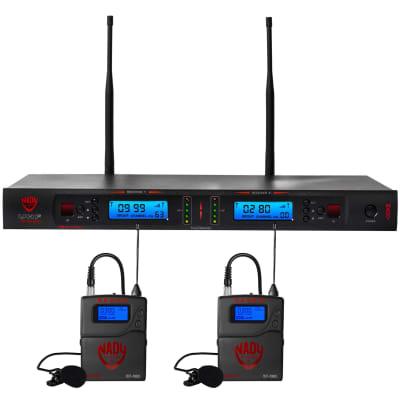 Nady 2W-1KU LT Dual True Diversity 1000-Channel UHF Wireless Lavalier Microphone System