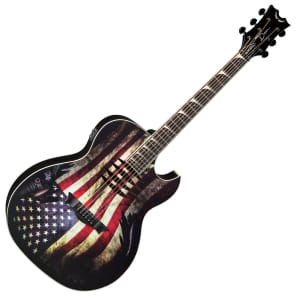 Dean MAKO-GLORY Dave Mustaine Dreadnought with Electronics American Flag
