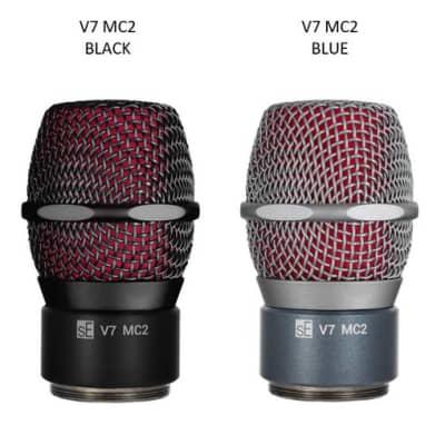 sE Electronics V7 MC2 Black & Blue Wireless V7 Mic Capsule for Sennheiser Wireless Transmitters