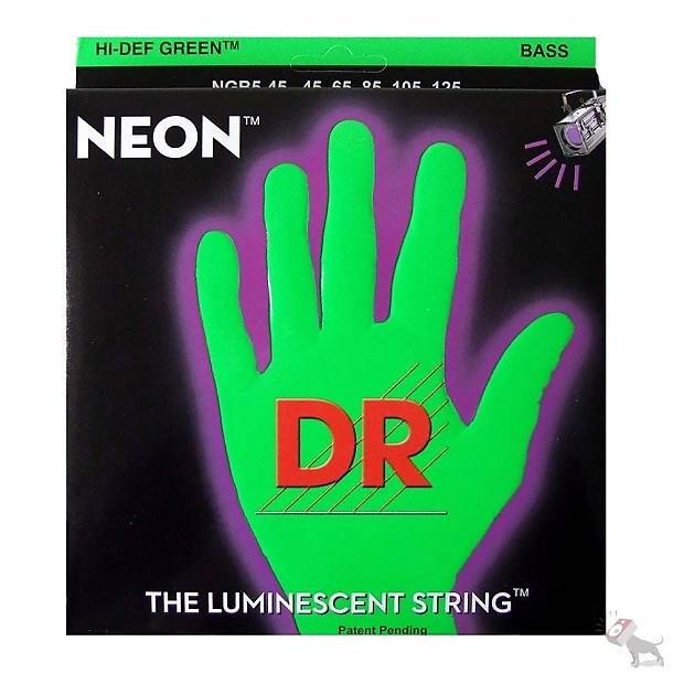 dr ngb 50 k3 neon hi def green heavy electric bass strings reverb. Black Bedroom Furniture Sets. Home Design Ideas