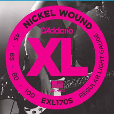 D'Addario EXL170S Nickel Wound Bass, Light, 45-100, Short Scale