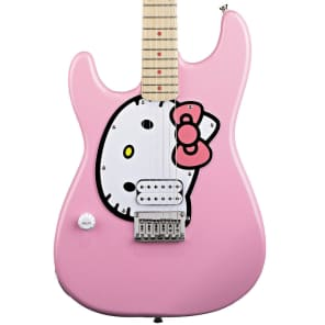 Fishbone PINK Strat 2018 Black or Pink Hello kitty LEFTY for sale