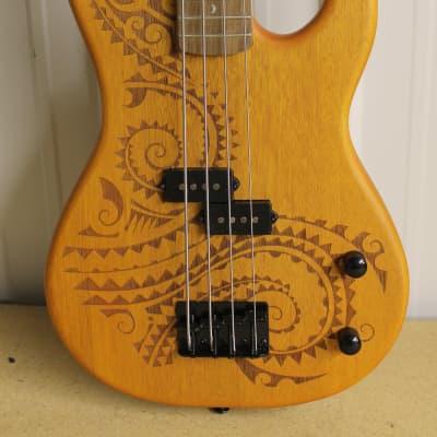 Luna Tattoo Short Scale Bass Natural Customer Return for sale