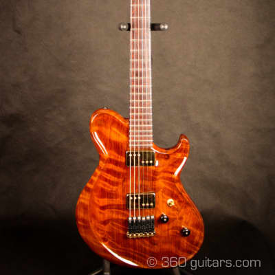 Moriah • Zadok • Boutique Guitar • Flame Redwood Top • Single Piece for sale