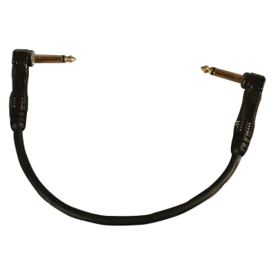"""Fulltone 8"""" Gold Standard Interconnect Patch Cable Angled-Angled"""