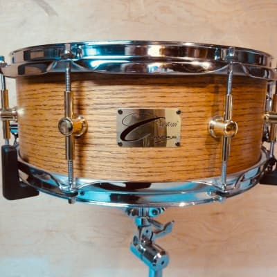 Canopus 3 Ply Oak 14x5.5 Snare Drum hand rubbed oil