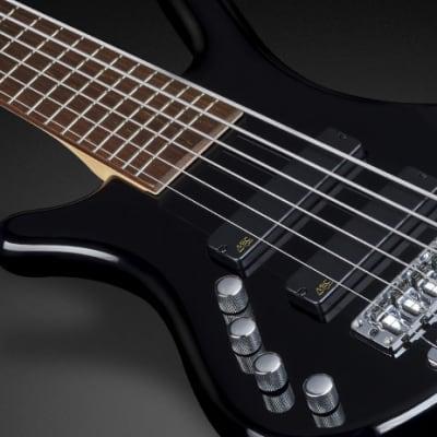 Warwick RockBass Corvette Basic, Lefthand, 6-String - Black Solid High Polish
