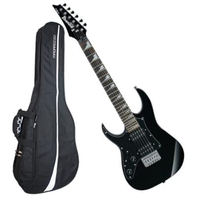Ibanez GRGM21BKNL Left-Handed Mikro Guitar Bundle