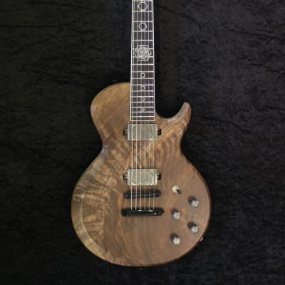 JPG (Josh Parkin Guitars) Sonic Titan - Black Limba with Walnut Crotch Top & Hexnosis Theme 2019 for sale