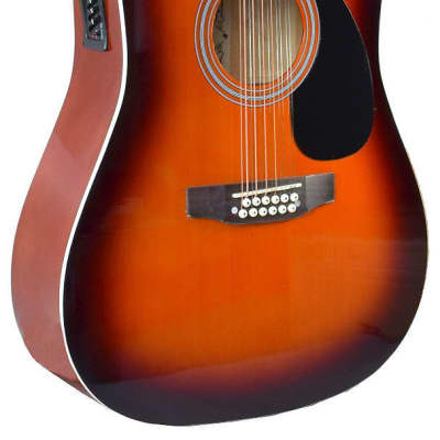 NEW MADERA 12 STRING ACOUSTIC ELECTRIC GUITAR - Vintage Burst - W-4122CE- VB for sale