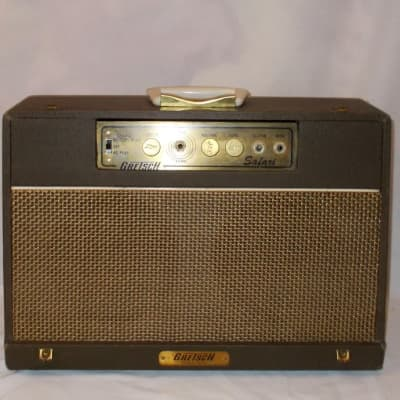 "1965 Gretsch  ""Safari"" Combo Amp Twin 8"" Jensen's W/ Original Suit Case Cover"